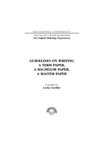writing a term paper guidelines