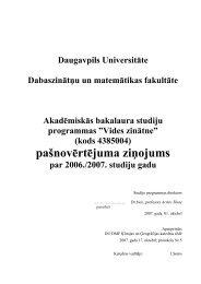 pašnovērtējuma ziĦojums - Daugavpils Universitāte