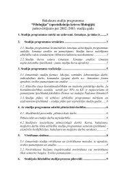 2. Studiju programmas struktūra