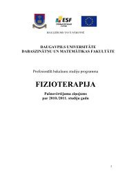 FIZIOTERAPIJA - Daugavpils Universitāte