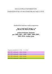 Bakalaura studiju programmas - Daugavpils Universitāte