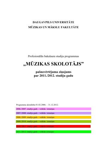 """""""MŪZIKAS SKOLOTĀJS"""" - Daugavpils Universitāte"""