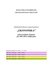 Akadēmiskās studiju programmas - Daugavpils Universitāte