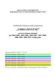 """""""VIDES ZINĀTNE"""" - Daugavpils Universitāte"""