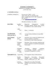 4. pielikums. Akadēmiskā personāla CV - Daugavpils Universitāte