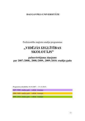 """""""VIDĒJĀS IZGLĪTĪBAS SKOLOTĀJS"""" - Daugavpils Universitāte"""