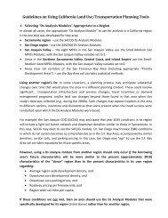 Guidelines on Using California Land Use/Transportation Planning ...