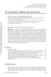 cytochrome c-mediated apoptosis - MCD Biology - University of ...