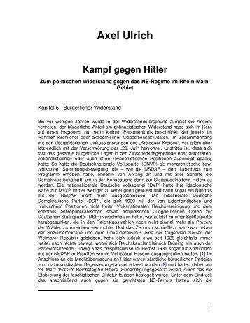 Axel Ulrich Kampf gegen Hitler - Geschichte der Arbeiterbewegung ...
