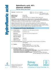 Hydrofluoric Acid 49% Aqueous