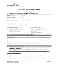 Material Safety Data Sheet Solution B