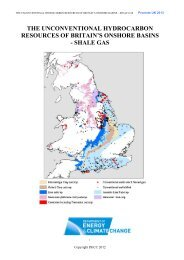 The Unconventional Hydrocarbon Resources of Britain's Onshore ...