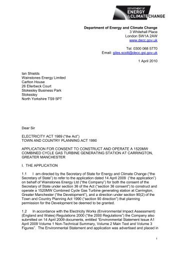 Carrington II CCGT - Diversity & Inclusion - Department of Energy ...