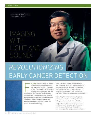 IMAGING WITH LIGHT AND SOUND: - Optical Imaging Laboratory
