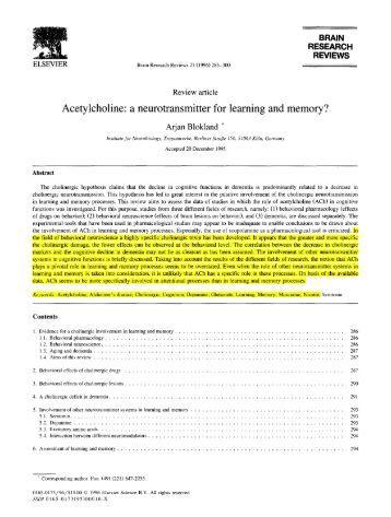 Acetylcholine - Wikipedia