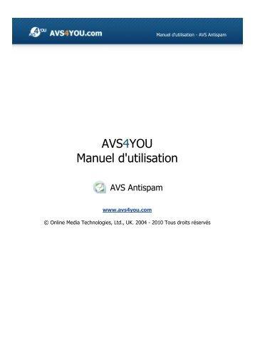 Manuel d'utilisation - AVS Antispam - AVS4YOU >> Online Help