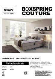 Femira BoxSpring Bed Couture - onlinesofa.ch