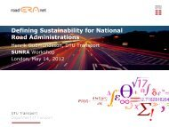 Defining Sustainability for National Road Administrations - DTU Orbit