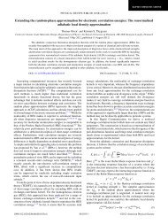Extending the random-phase approximation for electronic ...