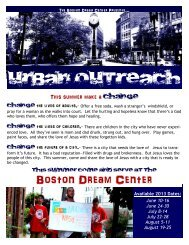 Boston Outreach Info Packet