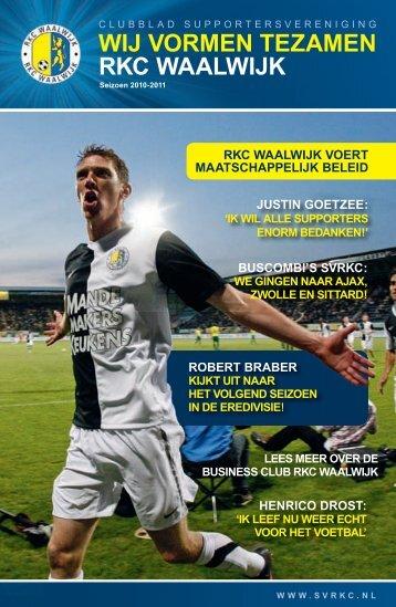 RKC Waalwijk Juni-2011_nieuw.indd - Supportersverening RKC ...
