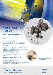 REB 6, REB 14 REB 20 Stroje k obrábění konců trubek
