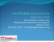 The Affordable Care Act's Day in Court - PA Health Access Network