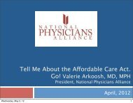 Tell Me About the Affordable Care Act. - PA Health Access Network