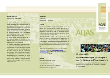 Programm - AQAS eV