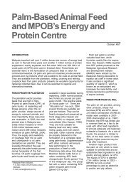 Palm-Based Animal Feed and MPOB's Energy and Protein Centre