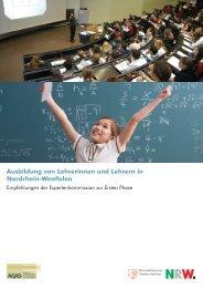 Ausbildung von Lehrerinnen und Lehrern in Nordrhein-Westfalen