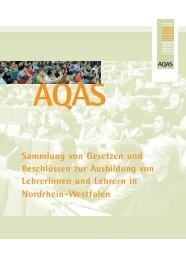 Kompetenzen und Standards für die Lehrerbildung - AQAS eV