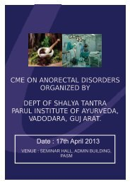 CME on Anorectal Disorders - Parul Group of Institutes