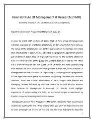 Orientation Programme of batch 2012-14 - Parul Group of Institutes