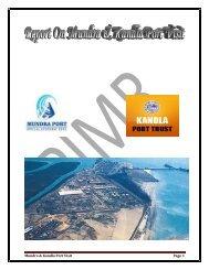 Mundra & Kandla Port Visit Page 1 - Parul Group of Institutes