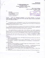 Letter of Approval by CCIM - Parul Group of Institutes