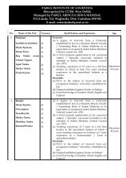 Application Form - Parul Group of Institutes