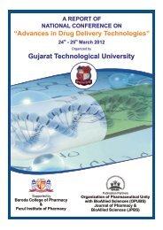 Advances in Drug Delivery Technologies - Gujarat Technological ...
