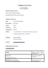 CURRICULUM VITAE - Parul Group of Institutes