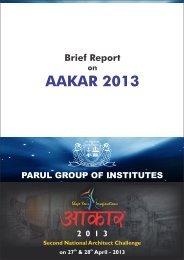 Brief Report on AAKAR 2013 final