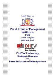 Report DHBW Student Visit to Parul Campus - Parul Group of Institutes