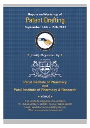 Workshop of Patent Drafting