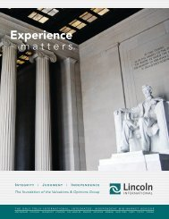 Experience - Lincoln International