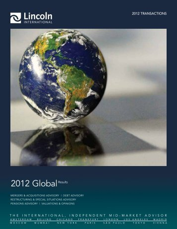2012 GlobalResults - Lincoln International