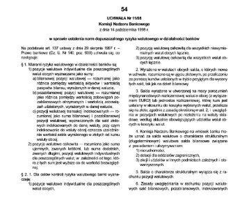 UCHWAŁA Nr 11/98 Komisji Nadzoru Bankowego z dnia 14 ... - POLBI