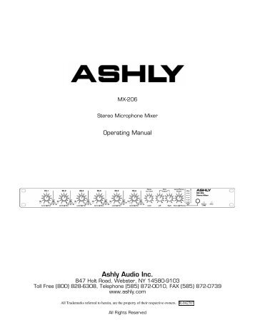 Ashly Audio Inc.