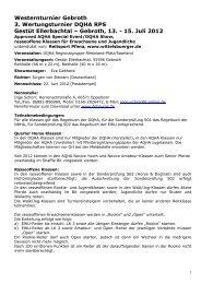 Westernturnier Gebroth 3. Wertungsturnier DQHA ... - Wittelsbuerger
