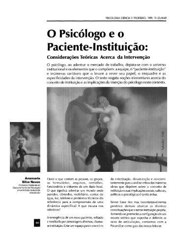 O Psicólogo eo Paciente-Instituição: Considerações ... - PePSIC