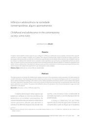 Childhood and adolescence in the contemporary society - PePSIC