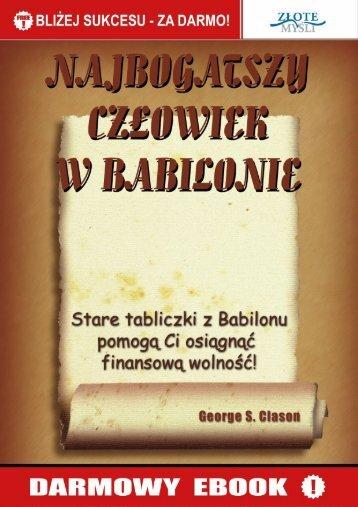 Najbogatszy człowiek w Babilonie - Darmowe ebooki